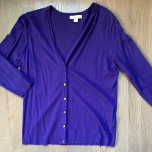 NY&CO Cobalt Blue Cardigan Sweater V Neck